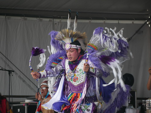 Northern Cree of Canada on Day 8 of Jazz Fest - 5.5.19. Photo by Louis Crispino.