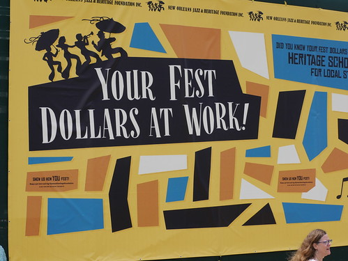 Fest Dollars At Work  on Day 8 of Jazz Fest - 5.5.19. Photo by Louis Crispino.