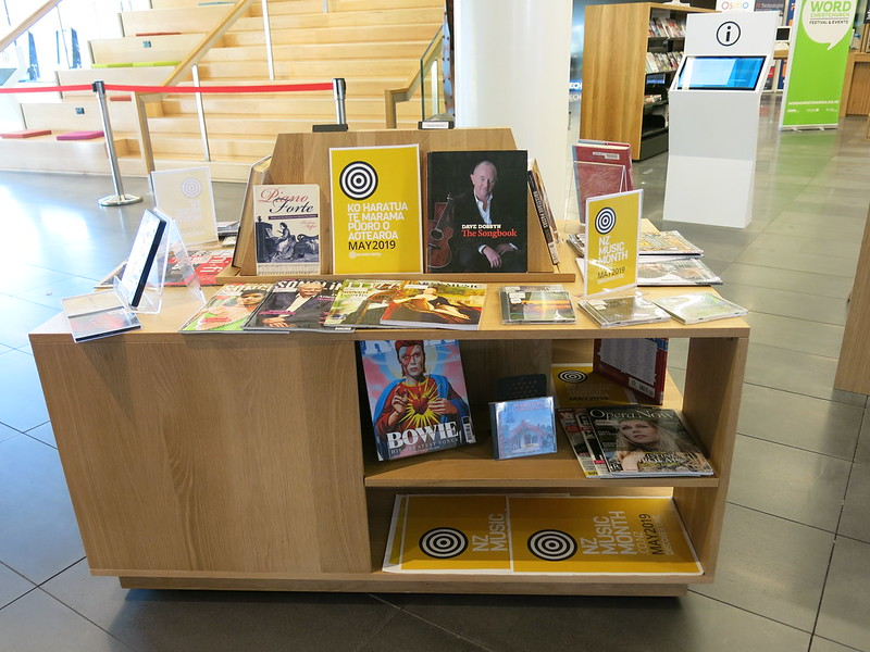 NZ Music Month display