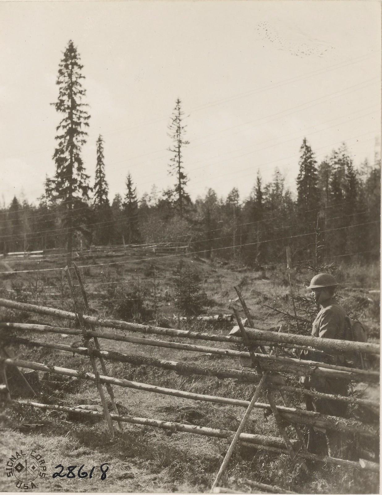 Обозерская. Передовой пост американской армии вдоль линии железной дороги
