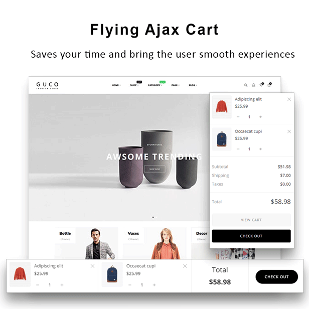 At Guco - shoes Fashion PrestaShop Theme - Flying Ajax Cart