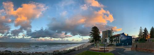 adelaide australia glenelg sa southaustralia clouds coast panorama sky sunrise