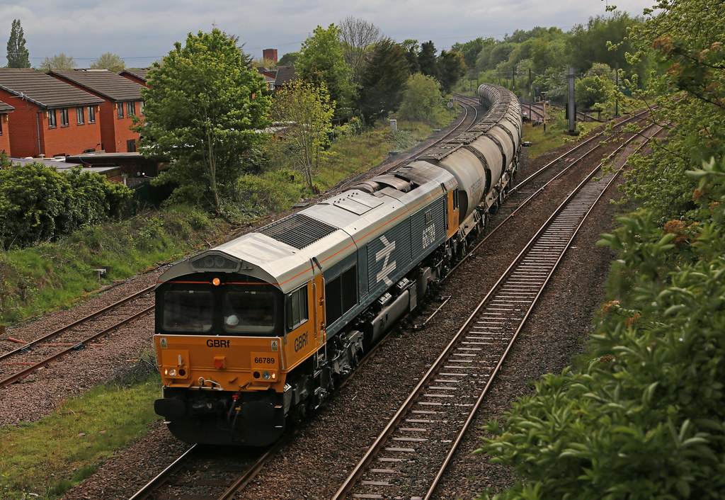 GBRf Class 66 66789-'British Rail 1948-1997' - Lostock Hall Junction.