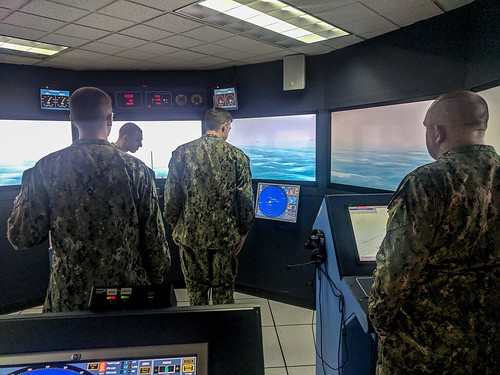 EVERETT, Wash. -- The Naval Air Warfare Center (NAWC) recently completed new installs on the Shiphandling trainer (Navigation Seamanship Shiphandling Trainer - NSST).
