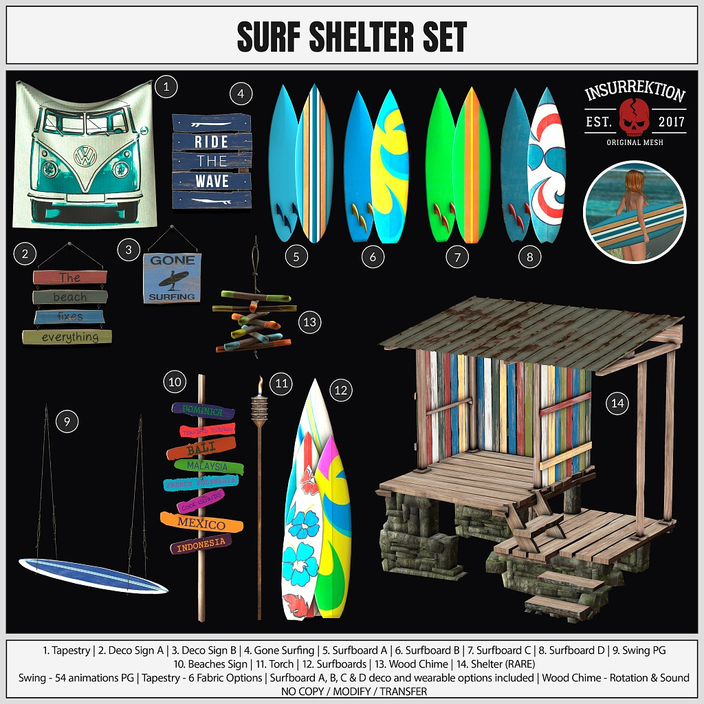 [IK] Surf Shelter Set Key
