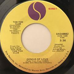 TOM TOM CLUB:GENIUS OF LOVE(LABEL SIDE-A)