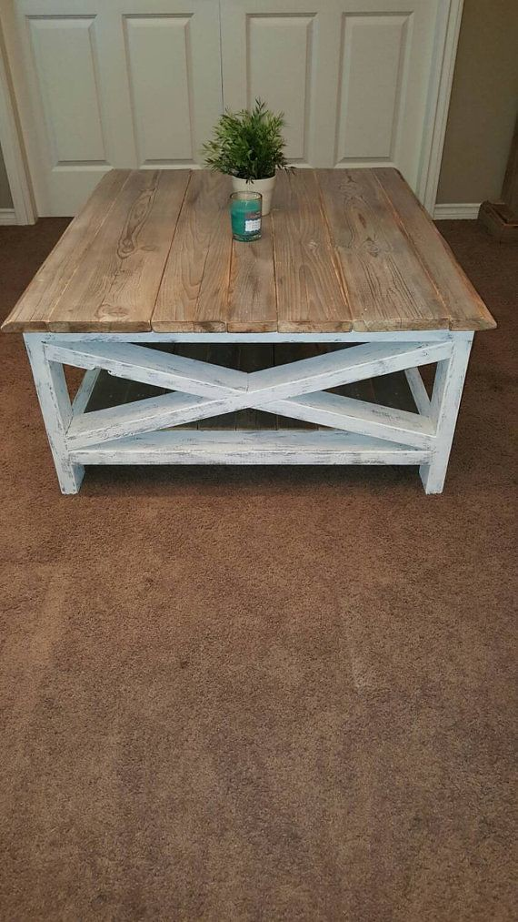 Distressed White Coffee Table Reclaimed Rustic Coffee Ta Flickr