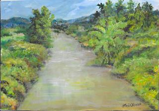 Pompas River in Brazil, Acrylic