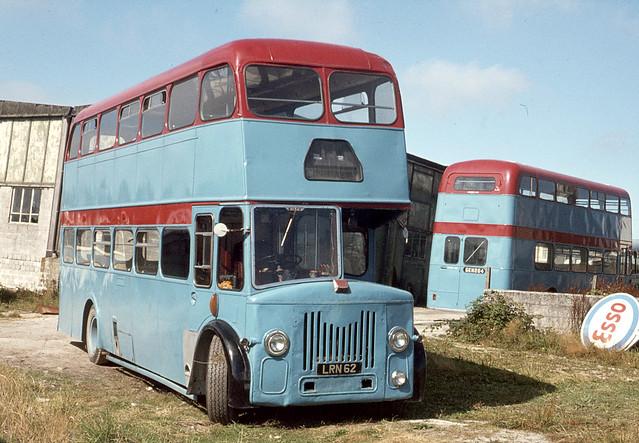 Currian Road Tours ( Stoneman and Brown ) . Nanpean , Cornwall . LRN62 . Nanpean Garage , Cornwall . August-1976 .