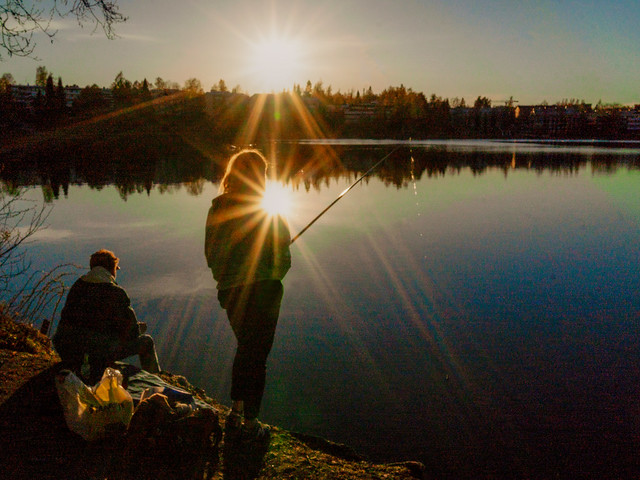 fishing in the evening 2