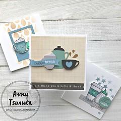 Coffee Break trio by Amy Tsuruta for Coffee Loving Cardmakers