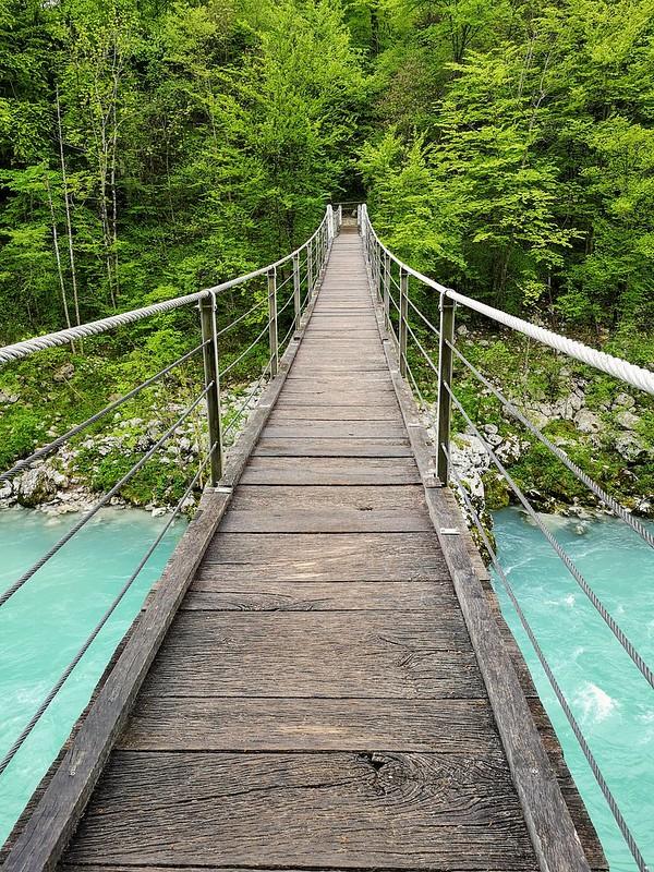 Riippusilta Socajoki Slovenia