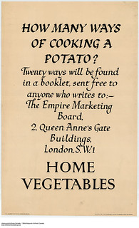 Home vegetables: How many ways of cooking a potato? / Légumes domestiques : Combien de façons d'apprêter la pomme de terre?