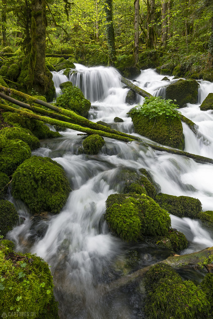 Stream and waterfall - Gorges de Pichoux