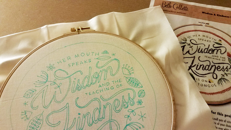 Stitching along with Beth Colletti