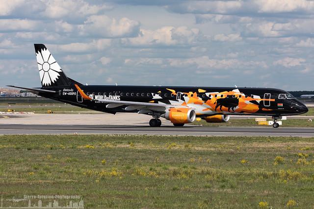 EW-400PO Belavia Embraer ERJ-195LR painted in 'World of Tanks' special colours (FRA - EDDF - Frankfurt)