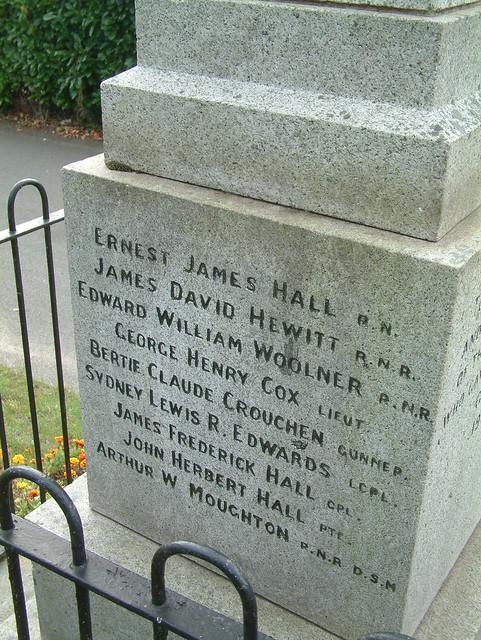 Reedham War Memorial - Great War Panel 1