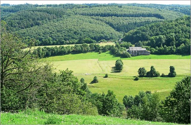 Vallée de la Vesdre, sur les hauteurs de Nessonvaux, Olne, Province de Liège, Belgium