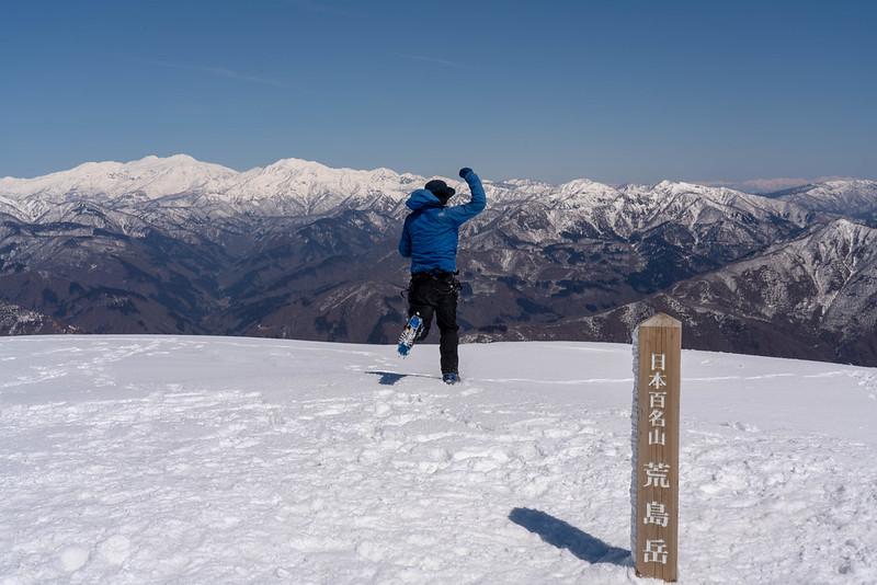 荒島岳を雪山で登る