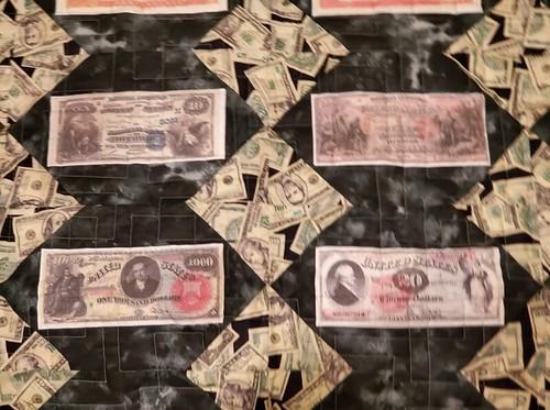 Money Quilt closeup