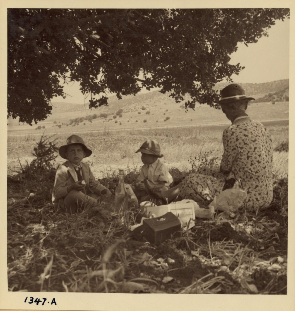 15. Тони, Питер Линд и Ана Андерсон. Пикник возле Хайфы по пути в США, 27 мая