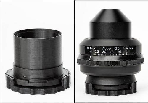 Microscope condenser darkfield polarizing Rheinberg oblique insert set