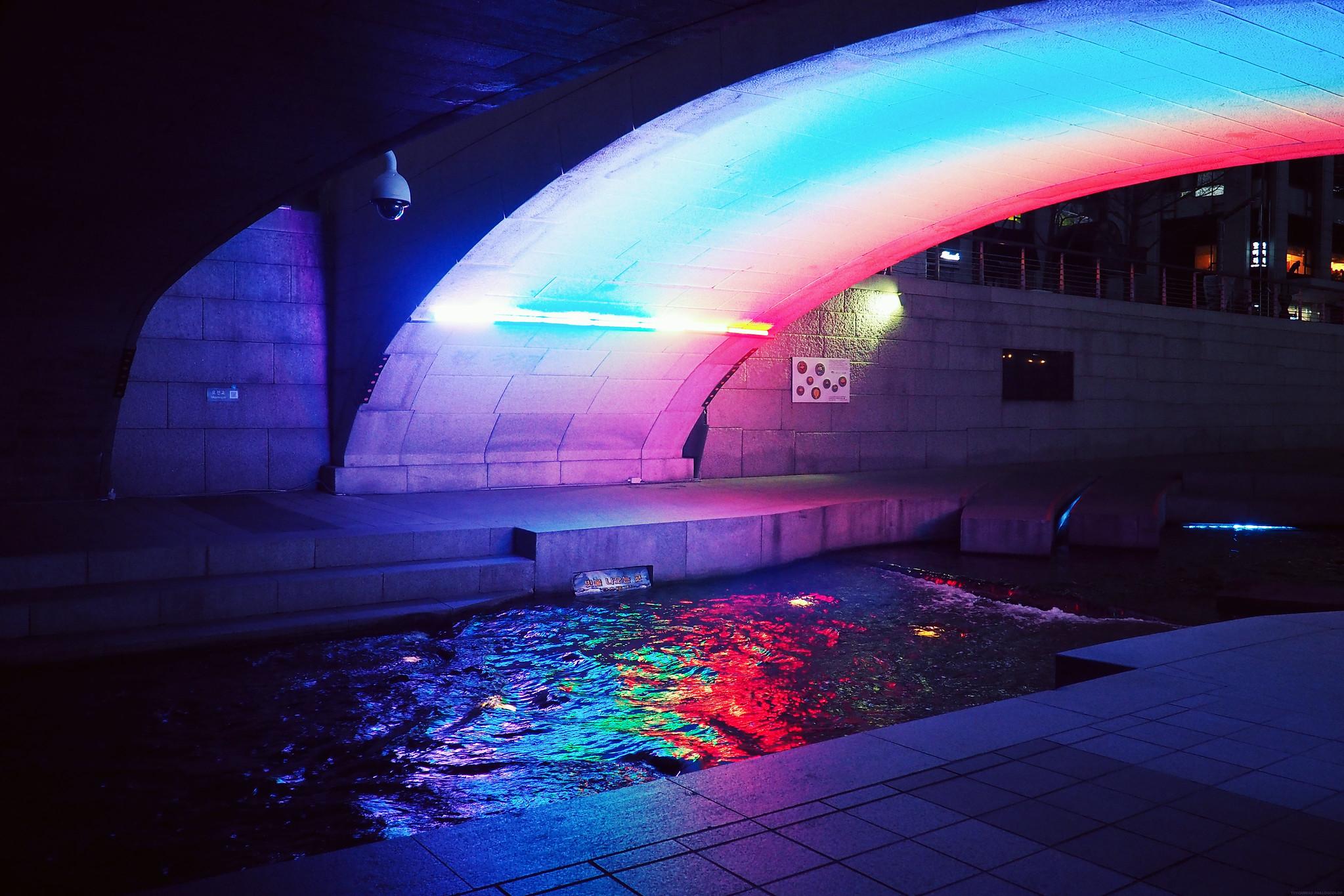 Cheonggyecheon-ro Stream Night_effected