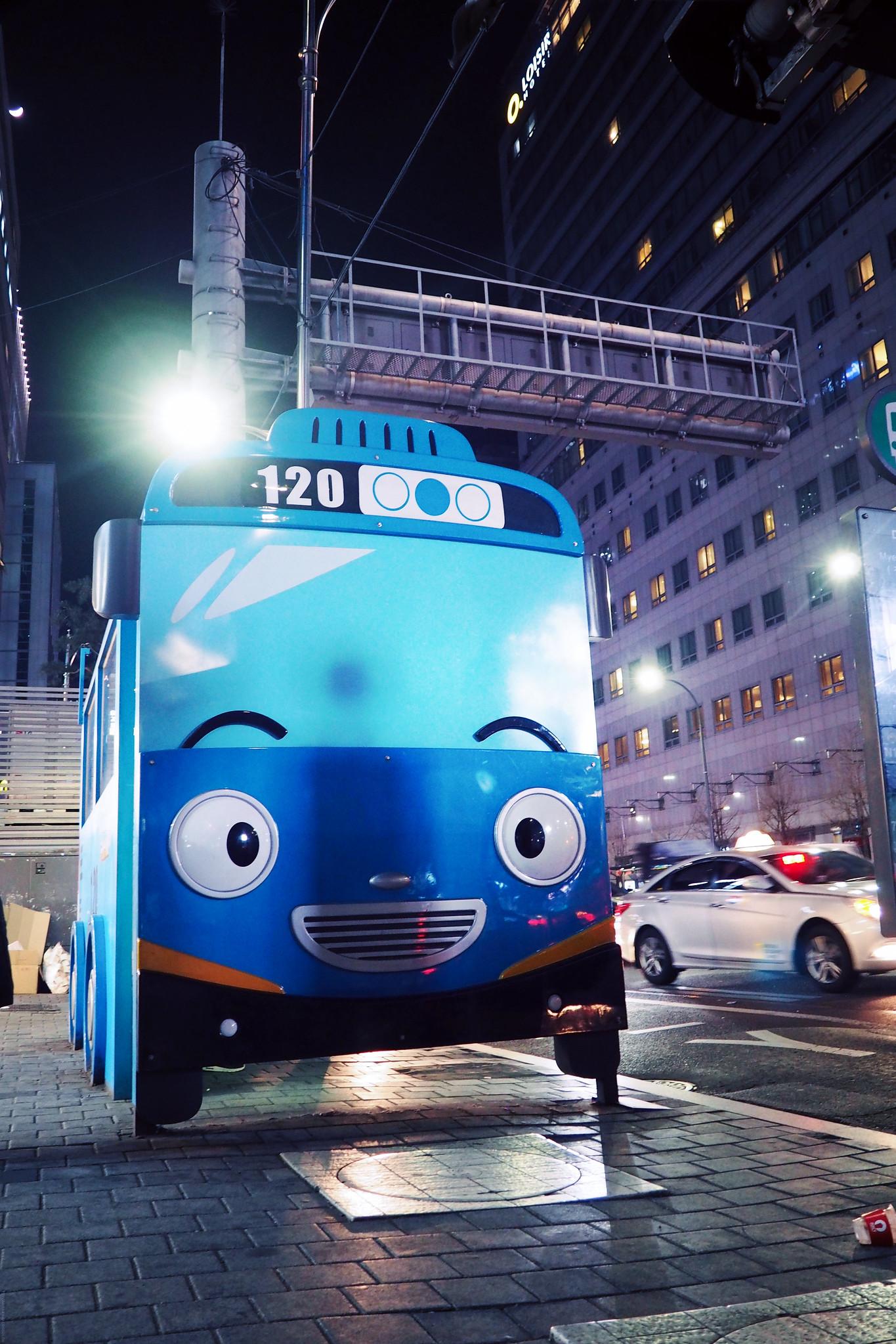Bus Stop Cute Animated Toy Seoul South Korea