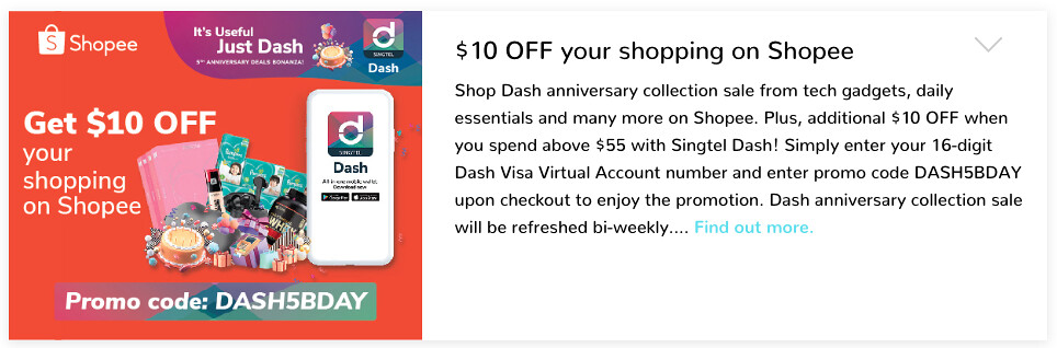 Singtel Dash Deal 2