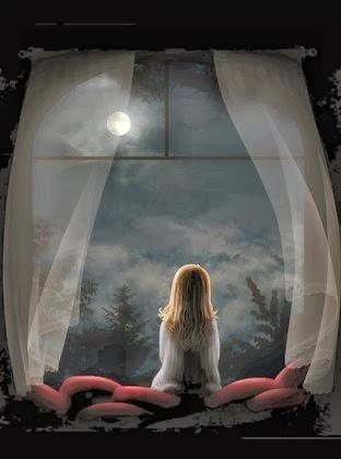 Menininha olhando a Lua ( L I N D O )