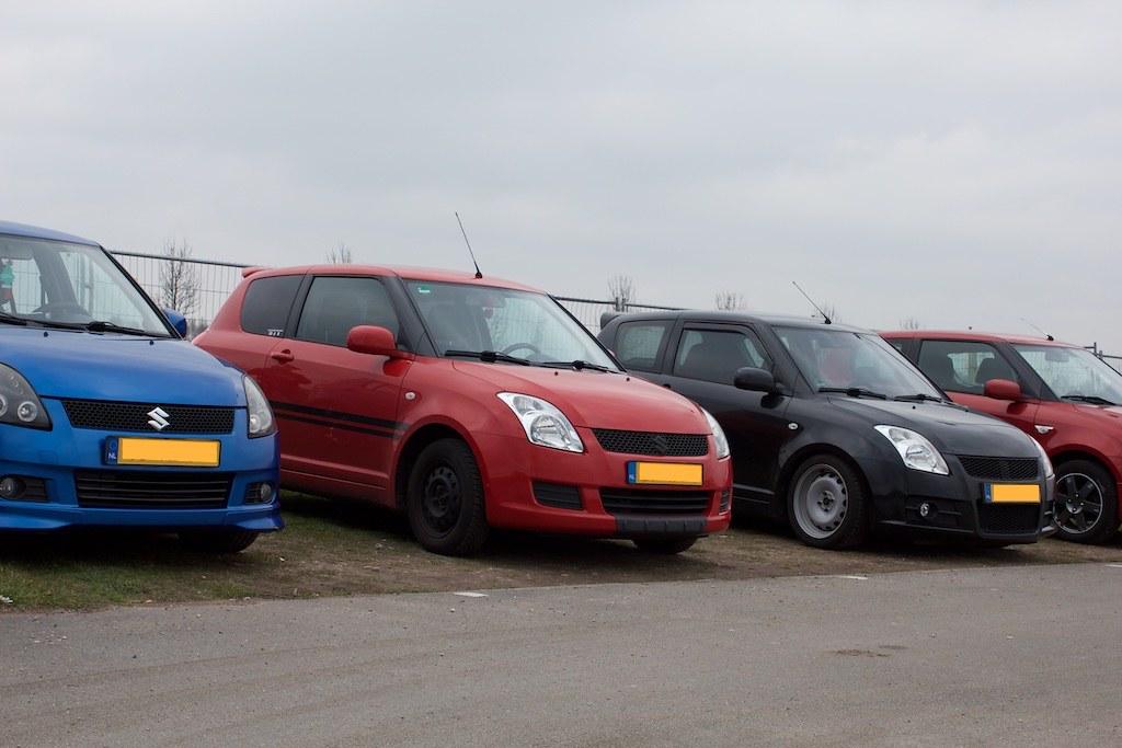 All types of MZ type Suzuki Swifts