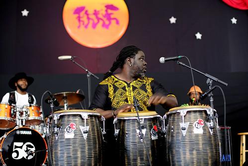 Alexey Marti  at Jazz Fest Day 8 - 5.5.19. Photo by Bill Sasser.