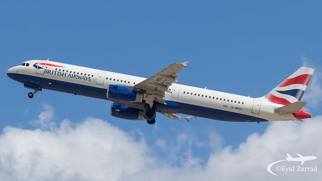 TLV - British Airways Airbus A321 G-MEDJ