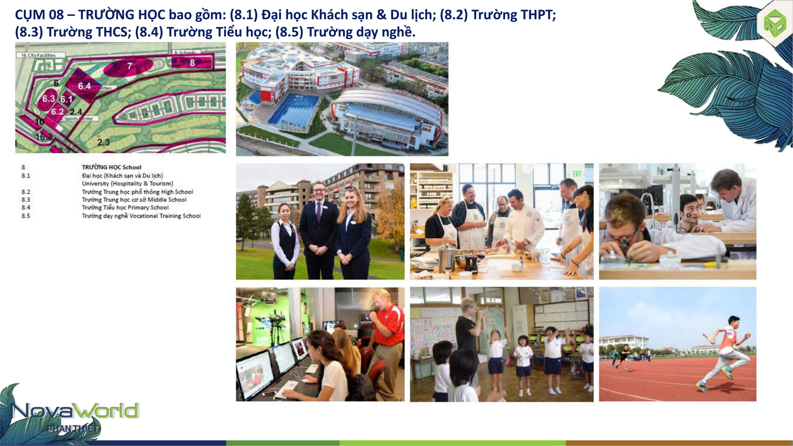 Cụm tiện ích Trường học dự án NovaWorld Phan Thiết