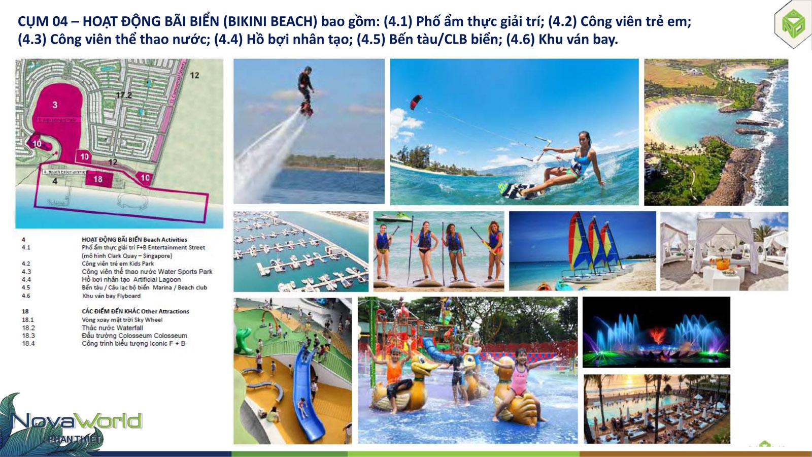 Cụm tiện ích hoạt động bãi biển NovaWorld Phan Thiết