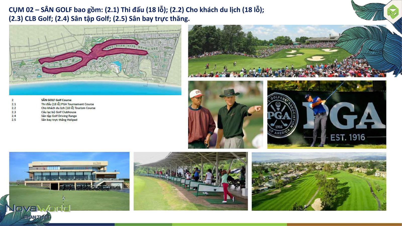 Cụm tiện ích sân Golf dự án NovaWorld Phan Thiết
