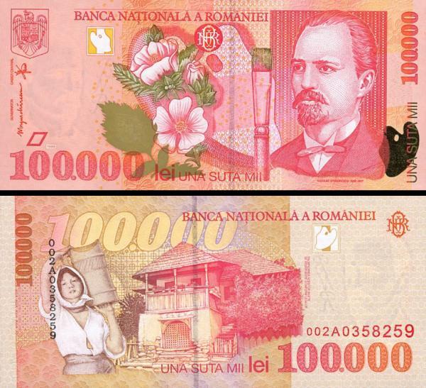 100 000 Lei Rumunsko 1998, P110