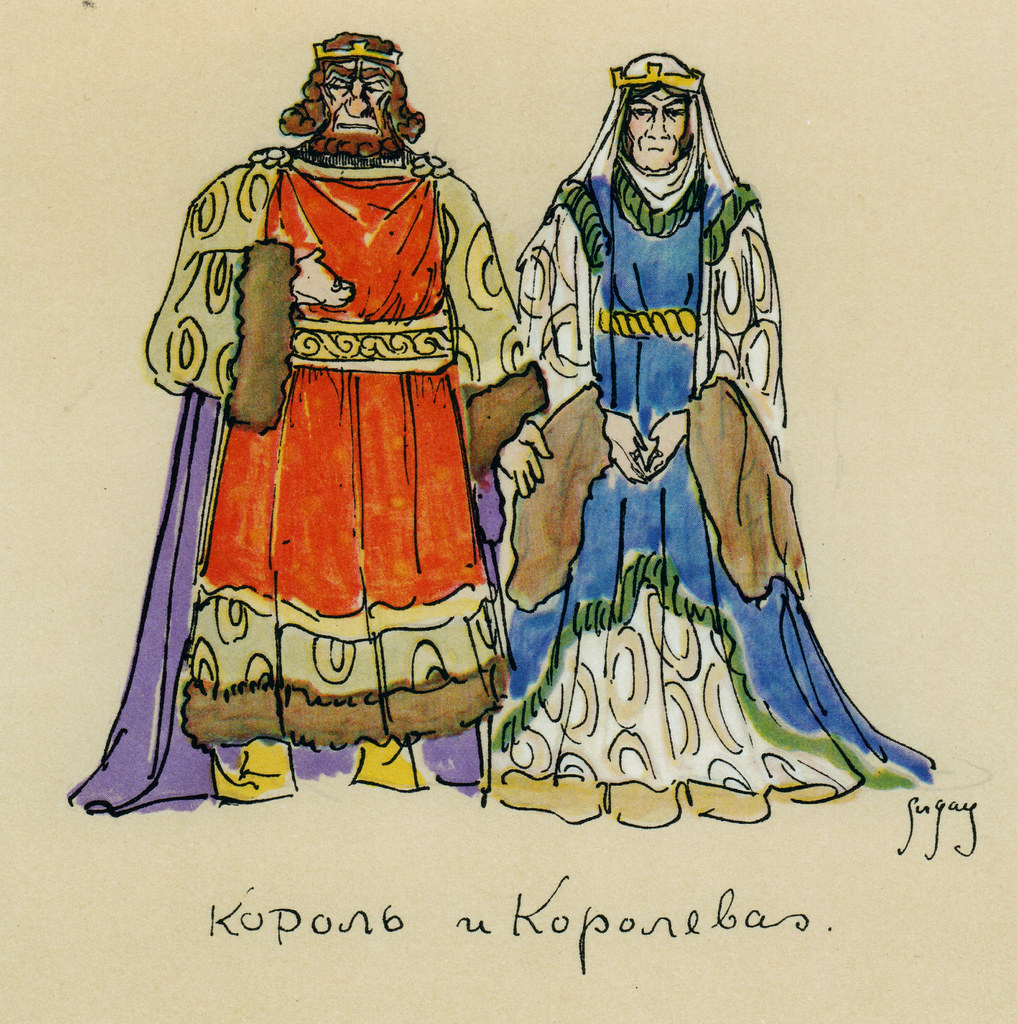 1917. «Эскизы к «Гамлету». Король и Королева». Петроград