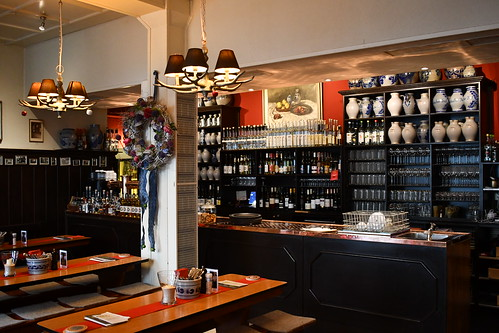 Inside Daheim im Lorsbacher Thal Bembels can be seen on the shelving. From History Comes Alive in Frankfurt am Main