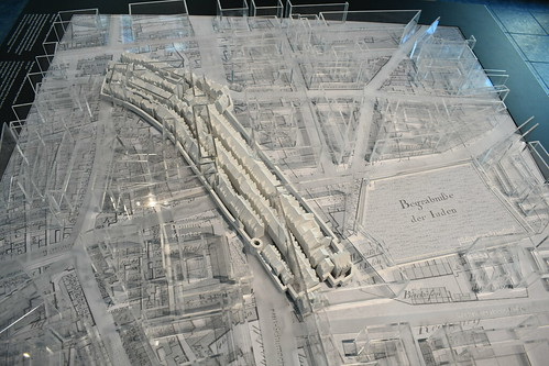 Judengasse Museum's model of the ghetto inside the city. From History Comes Alive in Frankfurt am Main