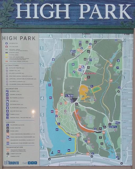 Detailed map of High Park #toronto #highpark #grenadierpond #maps #latergram