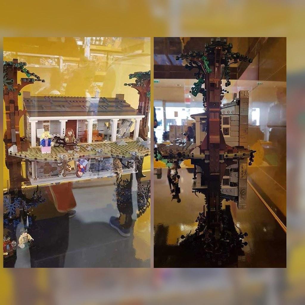 Lego Stranger Things store display.