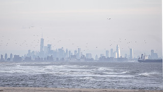 NYC Skyline from Sandy Hook, early morning | by donna lynn