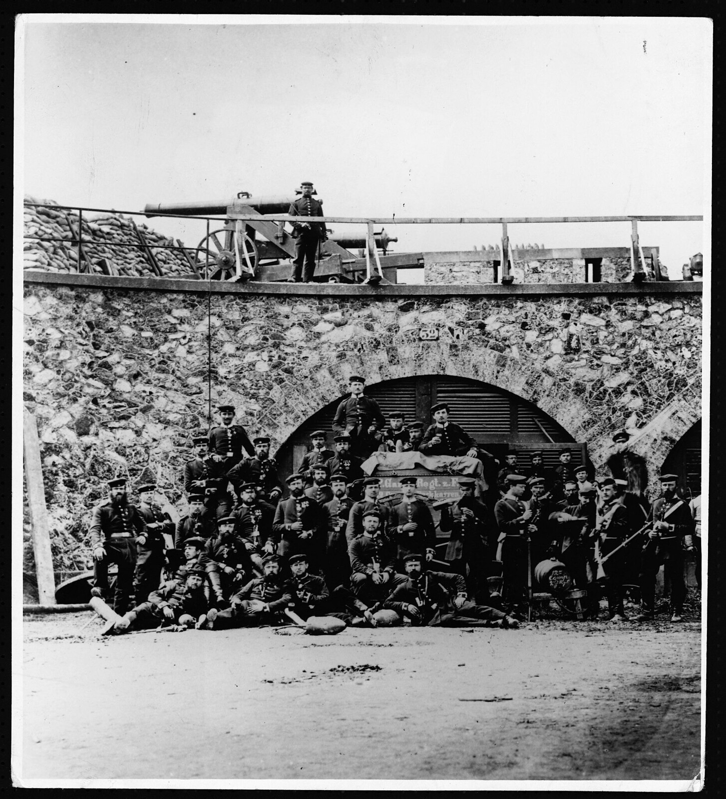 05. 1870. Группа прусских солдат в Фор-д'Обервилье