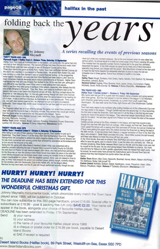 11-09-1999 Halifax Town 2-1 Brighton & Hove Albion 6