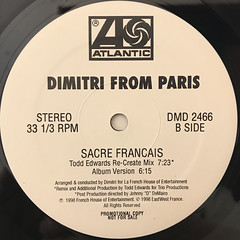 DIMITRI FROM PARIS:SACRE FRANCAIS(LABEL SIDE-B)