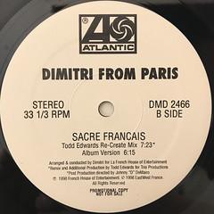 DIMITRI FROM PARIS:SACRE FRANCAIS(LABEL SIDE-B)