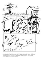 Dibujo realizado por el alumnado ermuarra en uno de los talleres con el dibujante Josean Morlesin.
