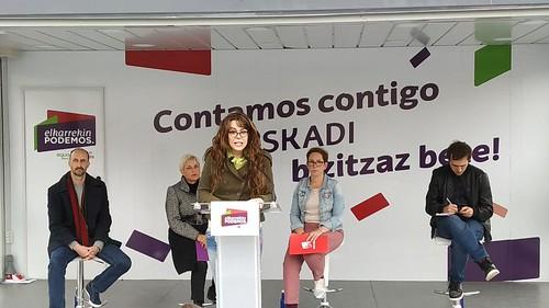 Elkarrekin Podemosen ekitaldia Zurriola