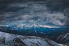Il monte Baldo innevato visto dal Maniva